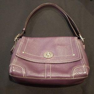 Coach *eggplant purple* handbag 💜 gently loved